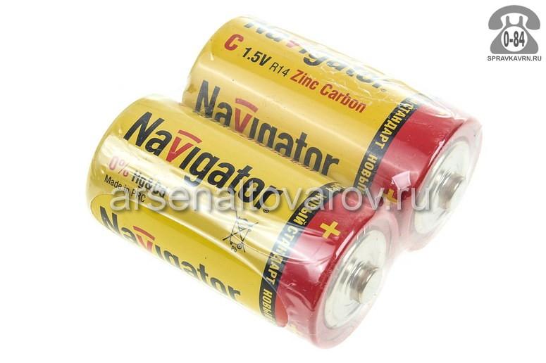 Батарейка Навигатор (Navigator) R14 1.5 В 2 шт. Китай