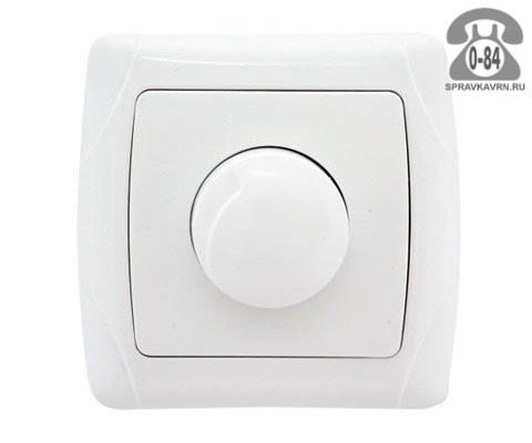 Светорегулятор Веркель (Werkel) поворотно-нажимной для ламп накаливания и галогенных ламп