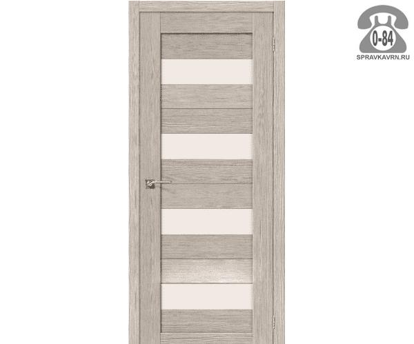 Межкомнатная деревянная дверь ЭльПорта, фабрика (el PORTA) Порта-23 Magic Fog остеклённая 70 см капучино вералинга (cappuccino veralinga)