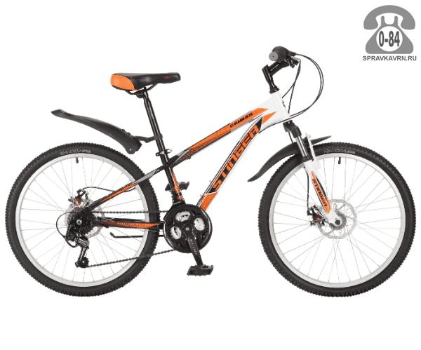 Велосипед Стингер (Stinger) Caiman D 24 (2017), оранжевый