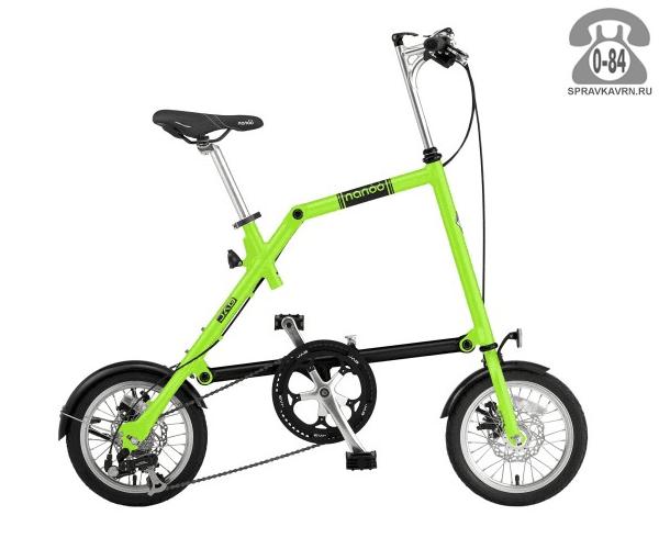 Велосипед Нэну (Nanoo) 148 (2016), зеленый