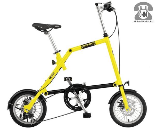 Велосипед Нэну (Nanoo) 148 (2016), желтый