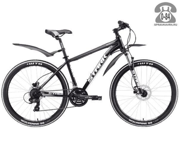 """Велосипед Старк (Stark) Router 26.2 HD (2017), рама 20.5"""" размер рамы 20.5"""" черный"""