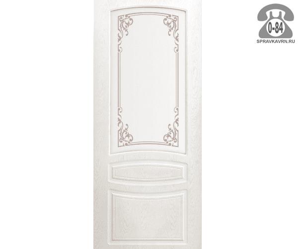 Межкомнатная деревянная дверь Левша, фабрика Венеция остеклённая 80 см снежный дуб