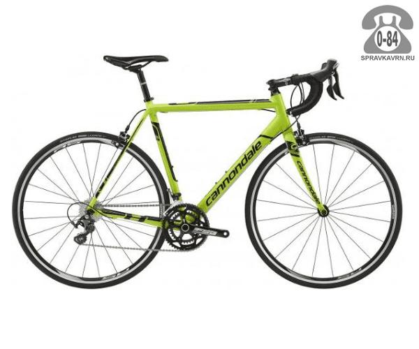 "Велосипед Канондейл (Cannondale) SuperSix EVO Hi-MOD Ultegra (2016) размер рамы 21.5"" зеленый"