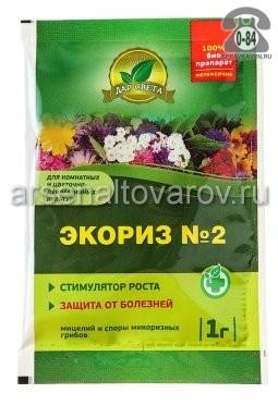 стимулятор роста Экориз №2 1 г для цветочных культур (Дар света)