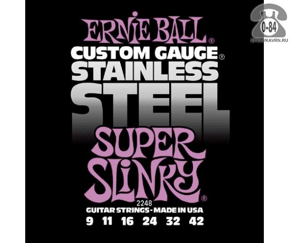 Струна для акустической гитары Эрни Болл (Ernie Ball) 2248 натяжение: medium (среднее), сталь