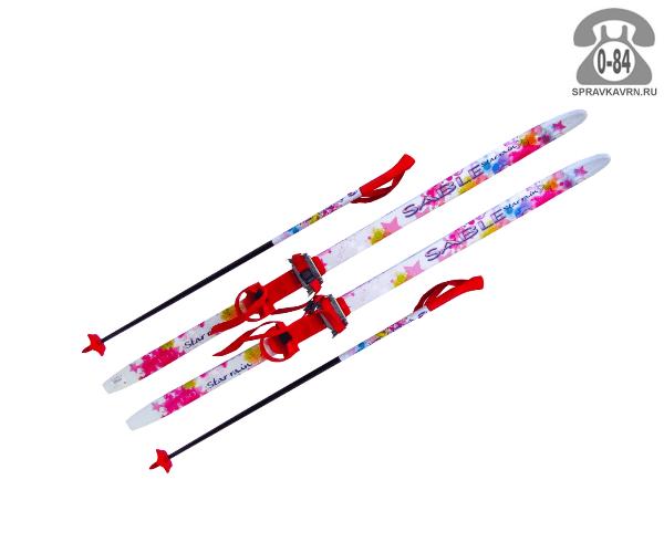 Лыжи Сабле (Sable) беговые 130 см прогулочные универсальный начинающие деревянный