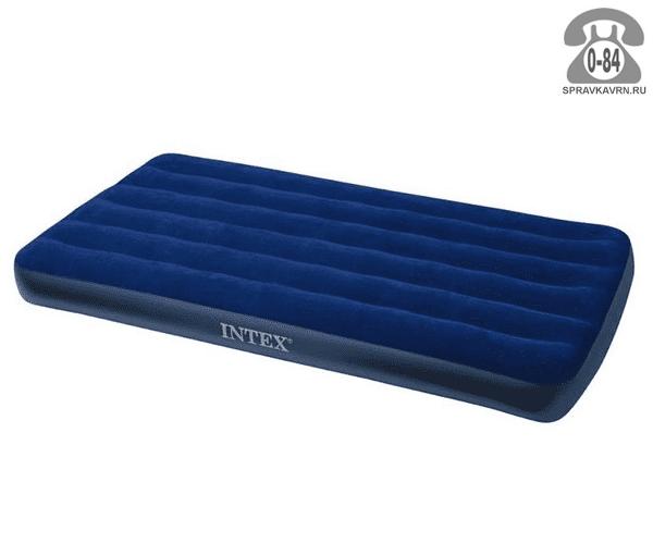 Кровать надувная Интекс (Intex) Royal 68757, 191х99х22см, синий