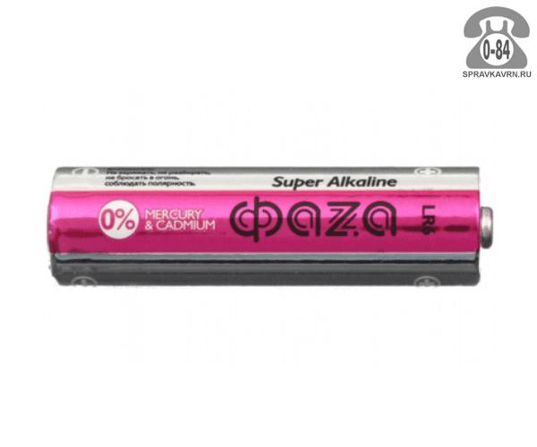 Батарейка Фаза (Фаzа) Super АА (LR6, R6) 4 шт
