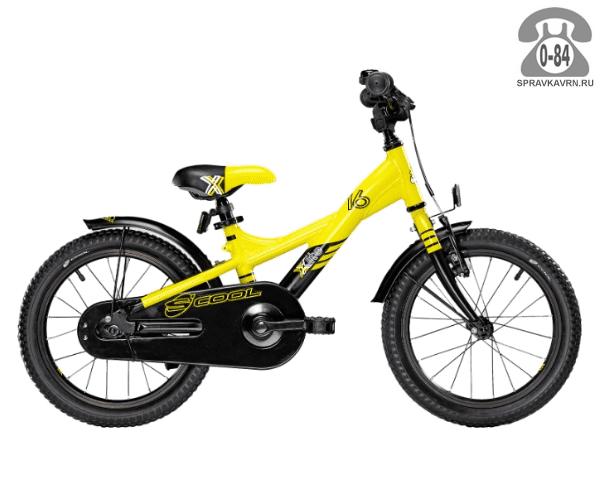 Велосипед Скул (Scool) XXlite 16 alloy (2017), желтый