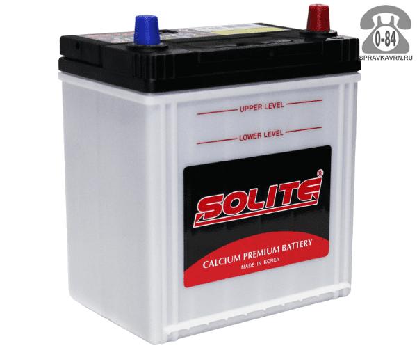 Аккумулятор для транспортного средства Солайт (Solite) 6СТ-44 полярность обратная, 187*127*225мм