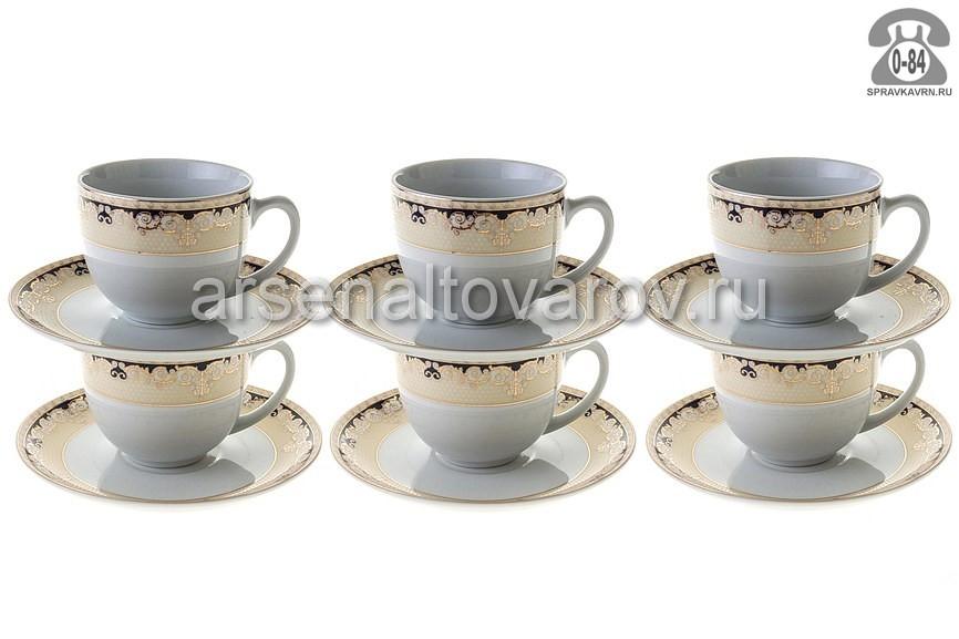 сервиз чайный фарфоровый 12 предметов 220 мл (106-03001) (Бэлсфорд)