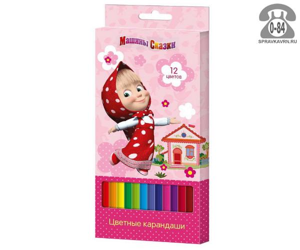 Цветные карандаши Машины сказки шестигранные 12 цветов