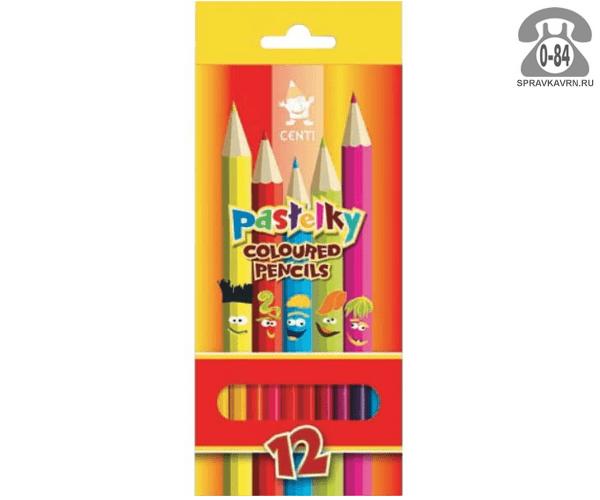 Цветные карандаши Центы цветов 12 картонная коробка