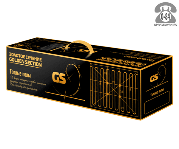 Тёплый пол Золотое сечение (Golden Section) GS 640-4,0 электрический нагревательный мат в стяжку (плиточный клей) 640 Вт 4 м2 Россия