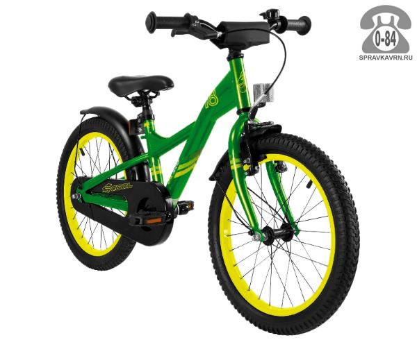 Велосипед Скул (Scool) XXlite 18 steel (2017), зеленый