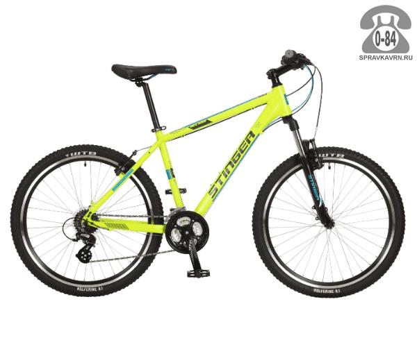 "Велосипед Стингер (Stinger) Reload 26"" (2017), рама 18.5"", зеленый размер рамы 18.5"" зеленый"