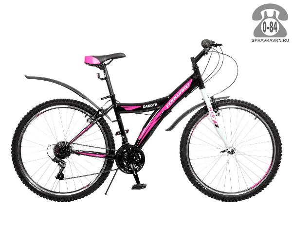 """Велосипед Форвард (Forward) Dakota 26 1.0 (2016) размер рамы 17"""" черный"""