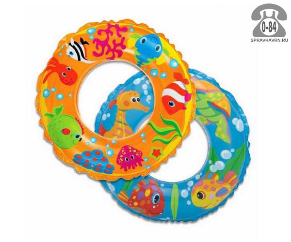 Круг надувной для плавания Интекс (Intex) Рифы океана (Морской мир), 59242