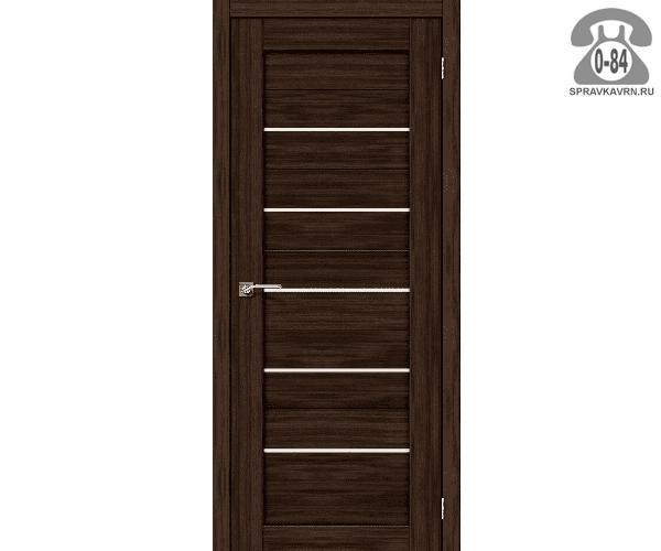 Межкомнатная деревянная дверь ЭльПорта, фабрика (el PORTA) Порта-22 Magic Fog остеклённая 90 см Венге Вералинга (Wenge Veralinga)