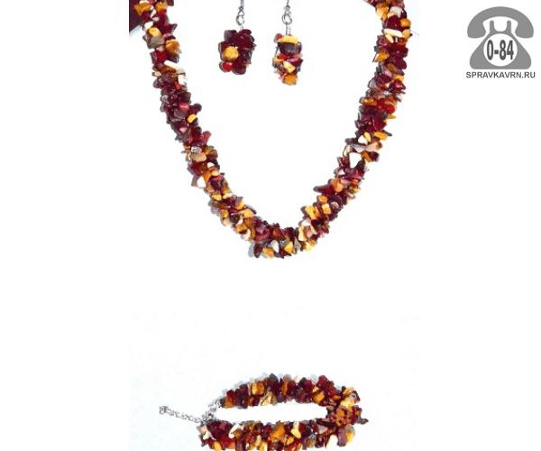 Комплект ювелирных украшений Гроздь вставка яшма