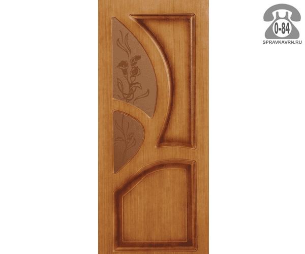 Дверь межкомнатная деревянная Левша Грация цвет: орех остеклённая 60см правая