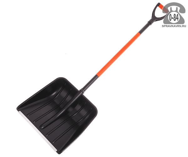 Лопата Варяг снеговая (снегоуборочная) с черенком 400x400 мм