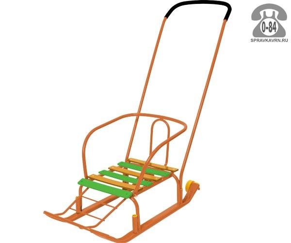 Санки Ника Тимка-3 Юниор Комфорт оранжевые для одного ребенка
