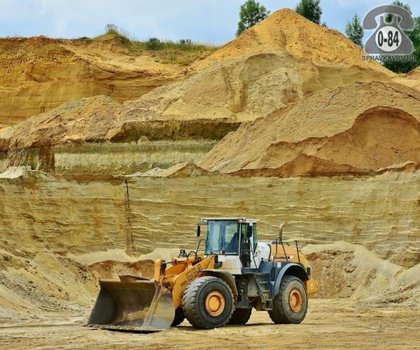 Песок карьерный (горный, строительный)