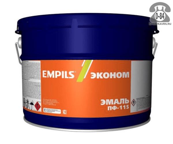 Краска Эмпилс (Empils) ПФ-115 Эконом 10 кг голубая