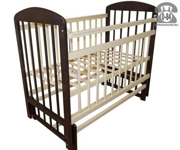 Кроватка для новорождённых Мой Малыш 9 поперечный маятник опускающаяся стенка