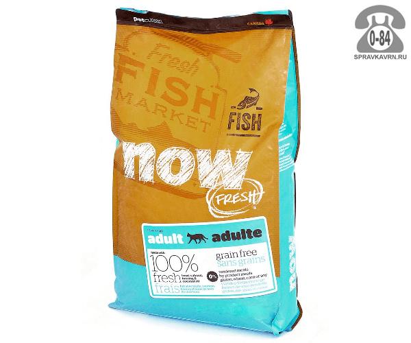 Корм для взрослых кошек Now! беззерновой с форелью и лососем для чувствительного пищеварения (7,2 кг) 19237