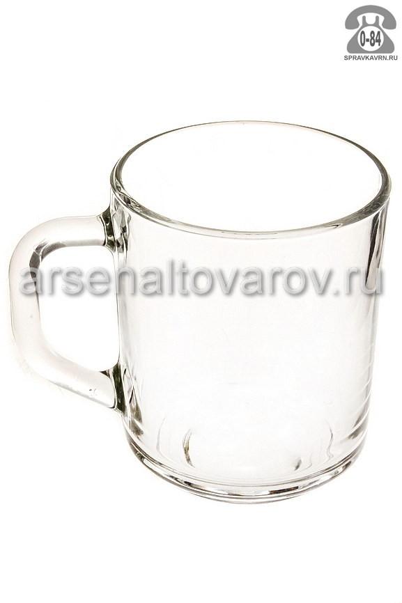 кружка чайная стеклянная 200 мл (07с1335) Зеленый чай (ОСЗ)