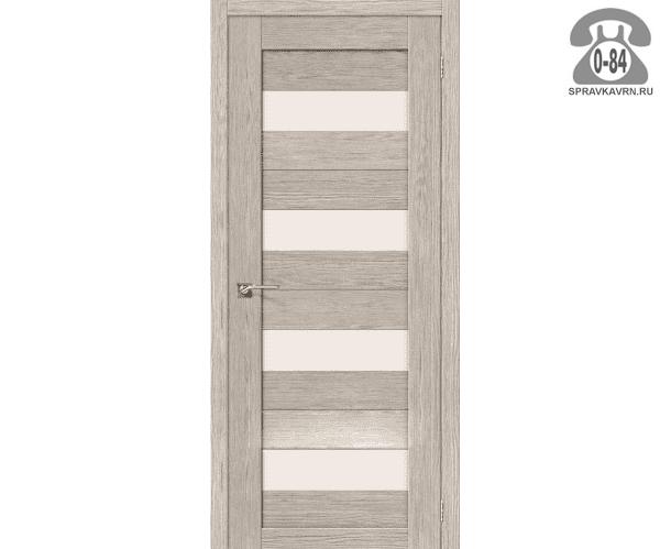 Межкомнатная деревянная дверь ЭльПорта, фабрика (el PORTA) Порта-23 Magic Fog остеклённая 60 см капучино вералинга (cappuccino veralinga)