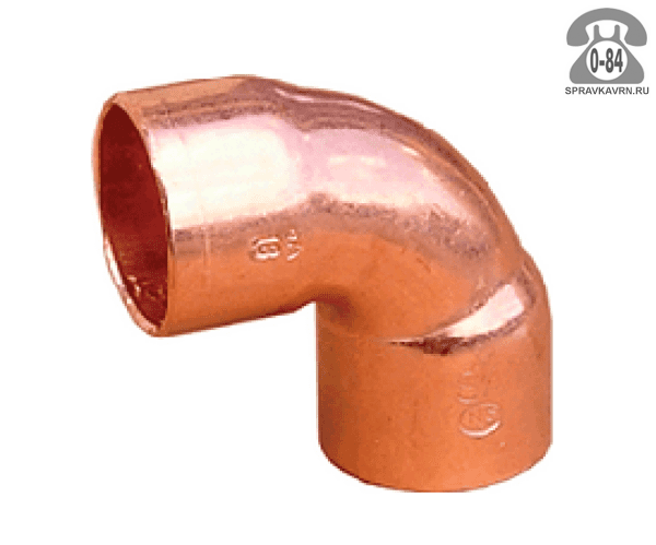 Угол для холодильного оборудования медный 6.4 мм 124 мм