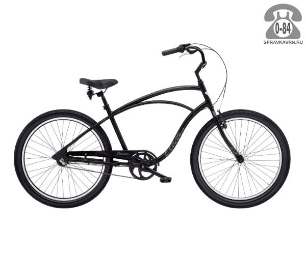 Велосипед Электра (Electra) Cruiser Lux Mens (2016) черный