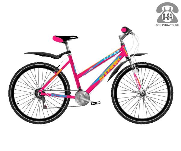 """Велосипед Старк (Stark) Luna 26.1 V (2017), рама 18.5"""" размер рамы 18.5"""" розовый"""
