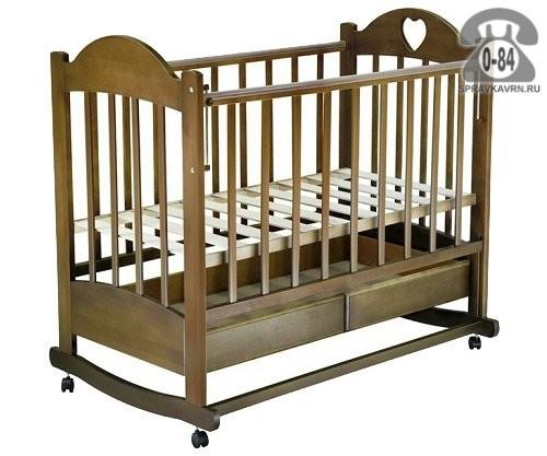 Кроватка Ведрусс Таисия 2 (колесо/качалка, ящик), качалка (полозья)