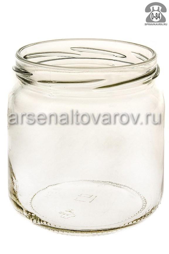 Банка стеклянная Твист-82 бочонок 0.35 л