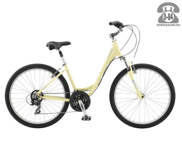 "Велосипед Швин (Schwinn) SIERRA women (2017) размер рамы 14.5"" желтый"