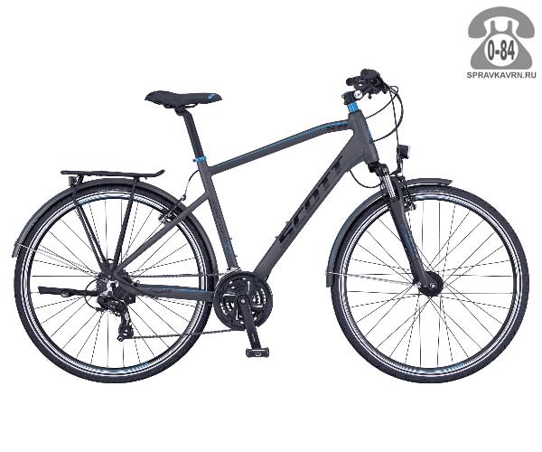 """Велосипед Скотт (Scott) Sub Sport 30 Men (2016) размер рамы 18.5"""" серый"""
