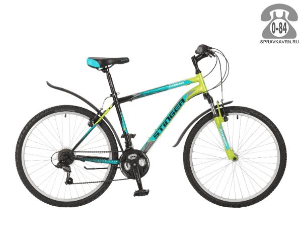 "Велосипед Стингер (Stinger) Caiman 26 (2017), рама 16.5"", зеленый размер рамы 16.5"" зеленый"