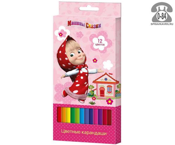 Цветные карандаши Машины сказки трёхгранные 12 цветов