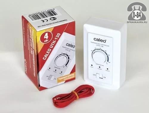 Терморегулятор для тёплого пола Калео (Caleo) 130 непрограммируемый механический белый выносной 2 м +5+60 Корея, республика (Южная Корея)