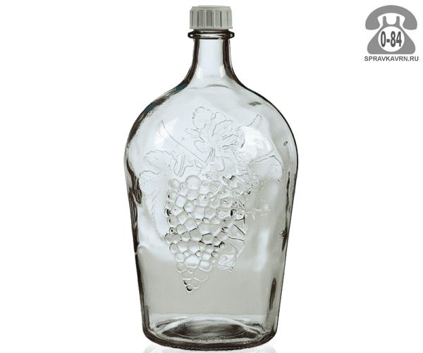 Бутыль стеклянная 4 л