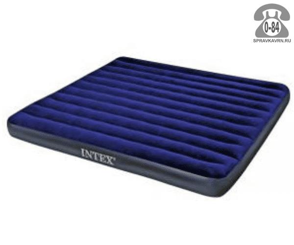 Кровать надувная Интекс (Intex) Royal 68755, 203х183х22см, синий