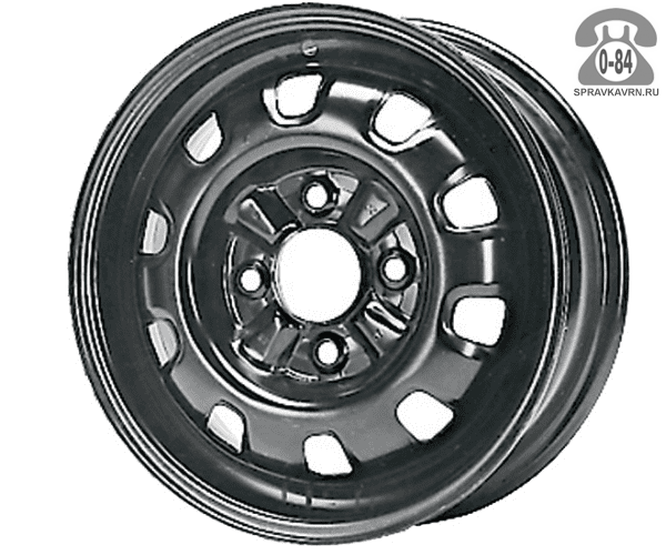 """Диск КФЗ (KFZ) 6805 14"""" ширина 5.5"""" крепежных отверстий 4 диаметр расположения отверстий 98 мм вылет колеса (ET) 44 мм диаметр центрального отверстия 58 мм"""