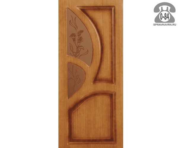 Межкомнатная деревянная дверь Левша, фабрика Грация остеклённая 70 см орех