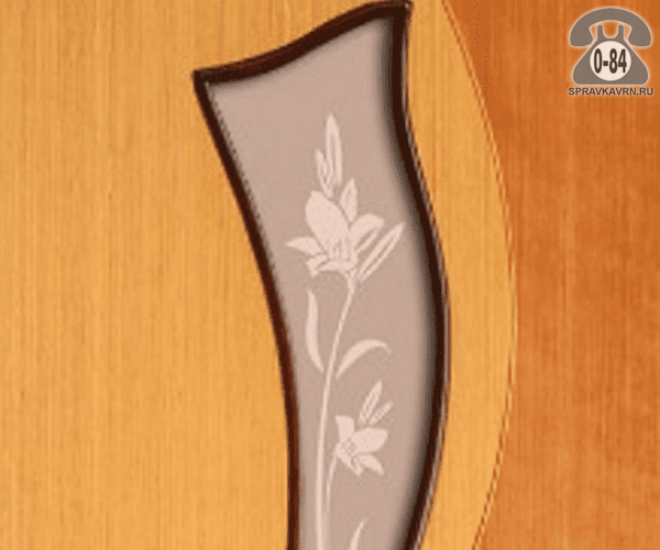 Листовое стекло Левша, фабрика Лилия-2 для двери ПО-70 бронзовое